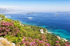 Paysage de la péninsule de Peljesac en Dalmatie du sud, Croatie Image stock