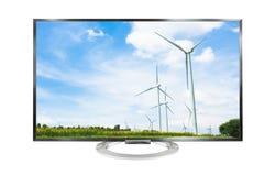 paysage de la télévision 4k d'isolement sur le fond blanc Image libre de droits