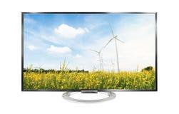 paysage de la télévision 4k d'isolement sur le fond blanc Photo stock