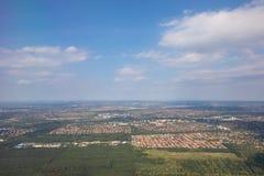 Paysage de la terre de vue aérienne d'avion photo libre de droits