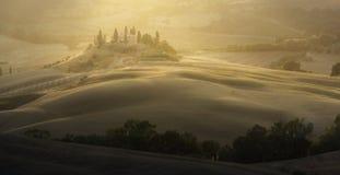Paysage de la Toscane de lever de soleil image libre de droits