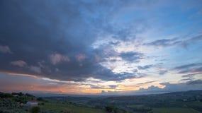 Paysage de la Toscane : Les collines du chianti au sud de Florence images libres de droits