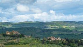 Paysage de la Toscane : Les collines du chianti au sud de Florence image stock