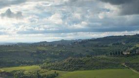 Paysage de la Toscane : Les collines du chianti au sud de Florence photos stock