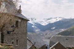 Paysage de la vallée d'aran Image stock