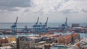 Paysage de la ville italienne de Gênes, vue du port