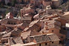 paysage de la ville médiévale d'Albarracin, Espagne photos stock