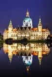 Paysage de la ville nouvelle Hall à Hannovre, Allemagne images libres de droits