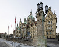 Paysage de la ville nouvelle Hall à Hannovre, Allemagne Photographie stock libre de droits
