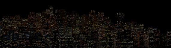 Paysage de la ville de nuit Photo stock