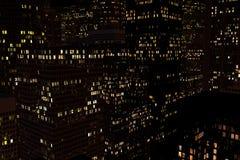 Paysage de la ville de nuit Photographie stock libre de droits