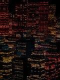 Paysage de la ville de nuit Image stock