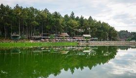 Paysage de lac dans Moc Chau, Vietnam Photographie stock libre de droits