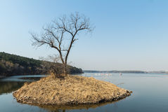 Paysage de lac de lune de Jilin Photo stock