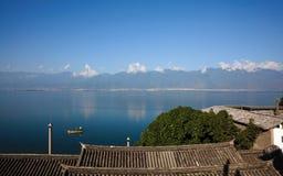 Paysage de lac Erhai Image libre de droits