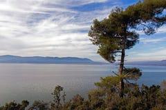 Paysage de lac Koycegiz, Mugla, Turquie Image libre de droits
