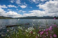 Paysage de lac Lugu Photos stock