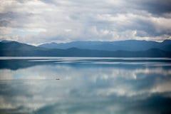 Paysage de lac Lugu Photographie stock