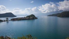 Paysage de lac Lugu Images stock
