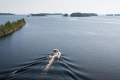 Paysage de lac Saimaa, Finlande Images stock