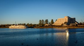 Paysage de lac de Vyborg, Russie Image libre de droits