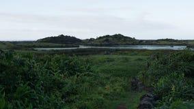 Paysage de lagune dans le sao Jorge, Açores Photo stock