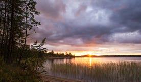 Paysage de lever de soleil Photo libre de droits