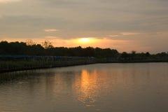 Paysage de lever de soleil Photos stock