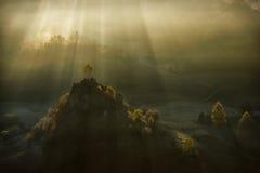 Paysage de lever de soleil de montagne images stock