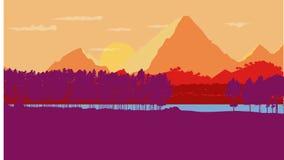 Paysage de lever de soleil de montagne Image stock