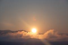 Paysage de lever de soleil de nature Images libres de droits