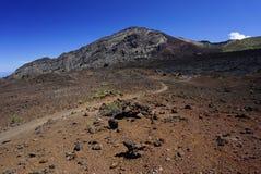 Paysage de lune en parc national de Haleakala en Hawa? photographie stock libre de droits