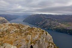Paysage de Lysefjorden, Ryfylke, Norvège image libre de droits