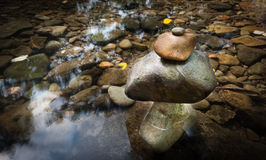 Paysage de méditation de zen Environnement calme et spirituel de nature Image libre de droits