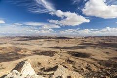 Paysage de Makhtesh Ramon Désert du Néguev l'israel photographie stock