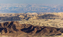 Paysage de Makhtesh Ramon Désert du Néguev l'israel photographie stock libre de droits