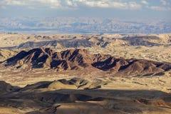 Paysage de Makhtesh Ramon Désert du Néguev l'israel images stock