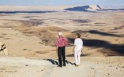 Paysage de Makhtesh Ramon Désert du Néguev l'israel photos stock