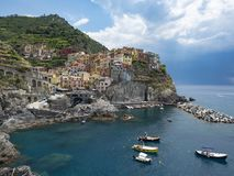 Paysage de Manarola Photos stock