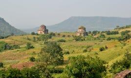 Paysage de Mandav avec l'architecture antique Photographie stock