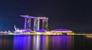 Paysage de Marina Bay à Singapour Photo stock