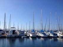 Paysage de marina de Long Beach Images libres de droits