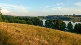 Paysage de Masuria en Pologne Juno Lake près de Kiersztanowo images stock