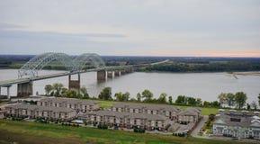 Paysage de Memphis Photographie stock libre de droits
