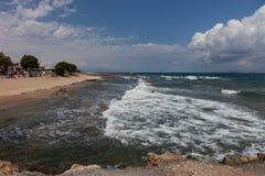 Paysage de mer, Crète Analipsi Photo stock