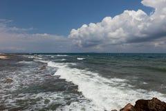 Paysage de mer, Crète Analipsi Photographie stock