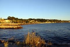 Paysage de mer dans Bandol, France Image stock