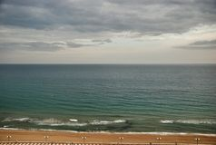 Paysage de mer de Tarragone de l'Espagne Images libres de droits