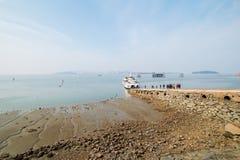 Paysage de mer de Wolmido en Corée Photo stock