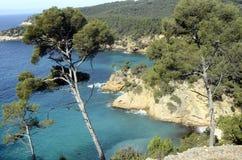 Paysage de mer près de Bandol, France Image libre de droits